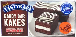 Tastykake Kandy Bar Kakes York Peppermint Flavored