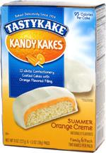 Tastykake Kandy Kakes Summer Orange Creme