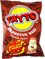Tayto Barbecue Beef Flavour Crisps