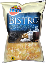 Tayto Bistro Crushed Sea Salt & Aged Malt Vinegar Flavour Potato Crisps