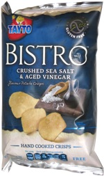 Tayto Bistro Crushed Sea Salt & Aged Vinegar Flavour Potato Crisps