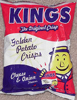 Kings Golden Potato Crisps Cheese & Onion Flavour