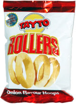 Tayto Rollers Onion Flavour Hoops