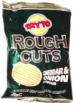 Tayto Rough Cuts Cheddar & Onion Flavour Crunkle Cut Potato Crisps