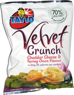 Tayto Velvet Crunch Cheddar Cheese & Spring Onion Flavour