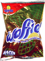 Tayto Waffles Crispy Potato Savoury Snacks Bacon Flavour