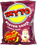 Tayto Wuster Sauce Flavour Crisps