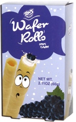 Tens Wafer Rolls Grape Flavor