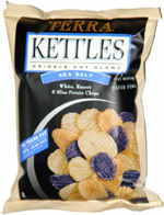 Terra Kettles Sea Salt White, Russet & Blue Potato Chips