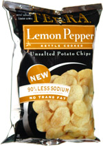 Terra Lemon Pepper Kettle Cooked Unsalted Potato Chips