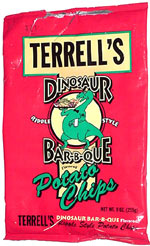 Terrell's Dinosaur Bar-B-Que Ripple Style Potato Chips