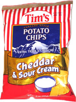 Tim's Cascade Style Potato Chips Cheddar & Sour Cream