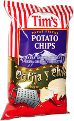 Tim's Potato Chips Cotija y Chile
