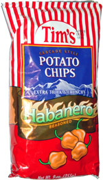 Tim's Cascade Style Potato Chips Habanero