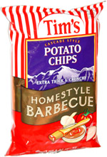 Tim's Cascade Style Potato Chips Homestyle Barbecue