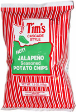 Tim's Cascade Style Hot Jalape�o Seasoned Potato Chips