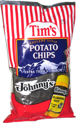 Tim's Cascade Style Potato Chips Johnny's Seasoning Salt