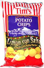 Tim's Potato Chips Limon con Salsa