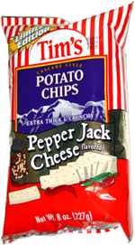 Tim's Cascade Style Potato Chips Pepper Jack Cheese