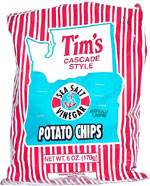 Tim's Cascade Style Sea Salt Vinegar Potato Chips