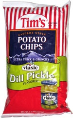 Tim's Cascade Style Potato Chips Vlasic Dill Pickle