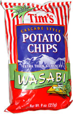 Tim's Cascade Style Wasabi Potato Chips
