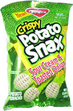 Tom's Crispy Potato Snax Sour Cream & Toasted Onion