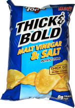 Tom's Thick & Bold Malt Vinegar & Salt Potato Chips