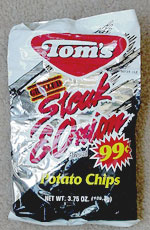 Tom's Grilled Steak & Onion Flavored Potato Chips