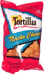 Tortillas Nacho Cheese Flavored Tortilla Chips