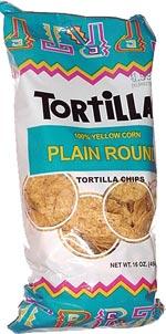 Tortillas 100% Yellow Corn Plain Round Tortilla Chips