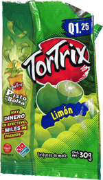 Tortrix Lime Flavored Corn Chips