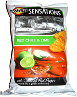 Tostitos Sensations Red Chile & Lime Tortilla Chips