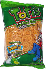 Totis Fried Flour Chips Artificial Lime Flavor