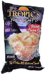 Tropic's Yuca Chips Picante and Cream Cheese Flavor