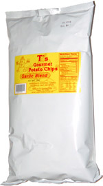 T's Gourmet Potato Chips Garlic Blend
