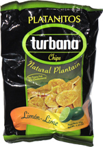 Platanitos Turbana Chips Natural Plantain Limón-Lime