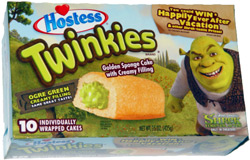 Hostess Twinkies Ogre Green Creamy Filling
