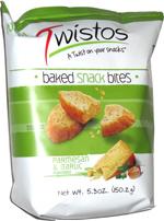 Twistos Baked Snack Bites Parmesan & Garlic