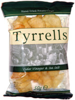 Tyrrells Hand Fried Potato Chips Cider Vinegar & Sea Salt