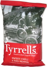 Tyrrells Hand Cooked English Chips Sweet Chili & Red Pepper