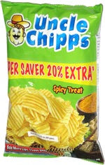 Uncle Chipps Spicy Treat Potato Chips