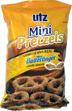 Utz Mini Pretzels Covered with Butterfinger Candy Pieces
