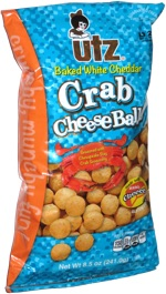 Utz Baked White Cheddar Crab Cheese Balls