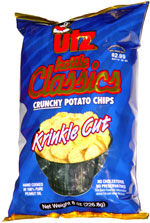 Utz Kettle Classics Crunchy Potato Chips Krinkle Cut