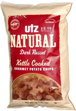 Utz Natural Dark Russet Kettle Cooked Gourmet Potato Chips