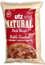 Utz Natural Dark Russet Kettle Cooked Gourmet Potato Chips