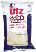 Utz No Salt Added Crisp All Natural Potato Chips