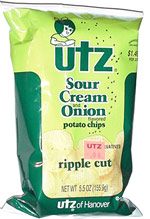 Utz Sour Cream and Onion Ripple Cut Potato Chips