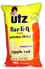 Utz Bar-B-Q Ripple Cut Potato Chips